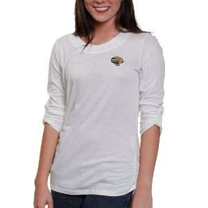 Jaguars Ladies Fellowship Premium T Shirt   White: Sports & Outdoors