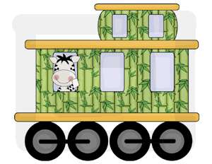 JUNGLE ANIMALS TRAIN BABY NURSERY WALL STICKERS DECALS