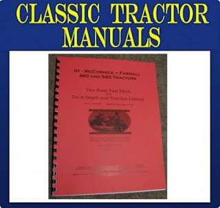 FARMALL 460 560 FAST HITCH Install Operators manual IH