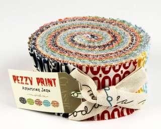 Moda Jelly Roll PEZZY PRINT, (40) 2 1/2 x 44 strips
