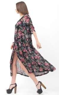 CHIFFON Crepe Gauze Ethnic Gypsy Boho Hippie Maxi Skirt DRESS