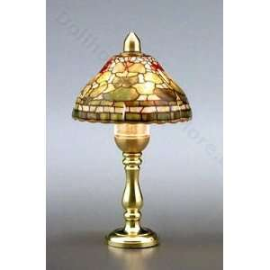 Kahlert Tiffany Fruit Design Dollhouse Table Lamp: Toys & Games