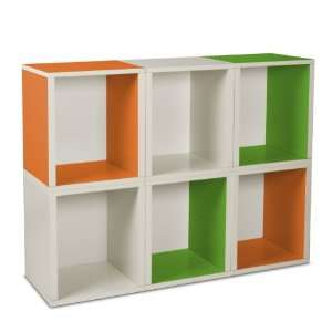 6 Stackable Open Modular Eco Storage Cubes Plus (Green