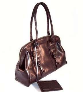 New Dark Brown Cowhide Leather Large Tote Handbag Value