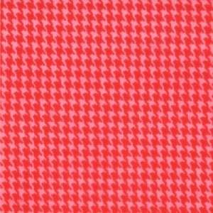 MODA Fabric ~ SOPHIE ~ by Chez Moi   Houndstooth / Pink   by the 1/2