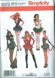Adult Halloween Costume Sewing Pattern Misses Men Ladies