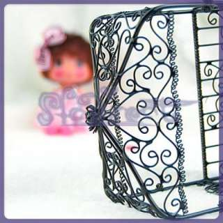 HANDMADE Dollhouse Black Wire Nursery Baby Grow Crib