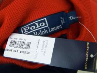 Ralph Lauren Mens polo red xl jacket sweater $165 nwt wool