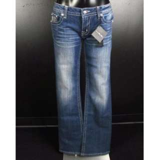 ME JEANS Boot Cut DIAMOND STUDDED CUT OUTS & SILVER EMBROIDERY