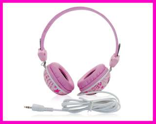hello Kitty colorful pink head phone Headset 3.5mm speaker