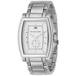 Michael Kors Mens Large Silver Dial Steel Watch