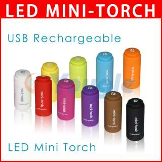 Mode USB Rechargeable LED Light Mini Torch Flashlight