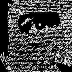 Los Angeles Pop Art Mens Edgar Allen Poe The Raven T shirt