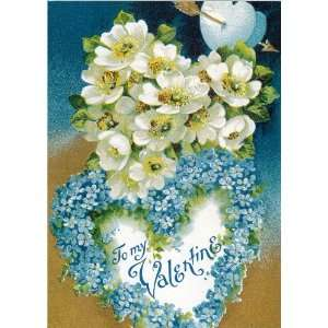 Flowers for your Valentines Day Vintage Greeting Cards School Package