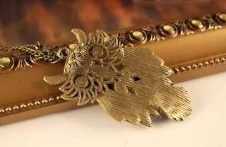 Fashion Retro Style Cute Colorful Hollow Owl Pendant Necklace