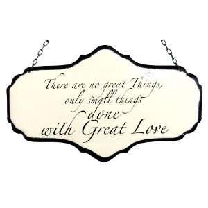 America Retold White Enamel Sign, Great Love, 5.5 x 9