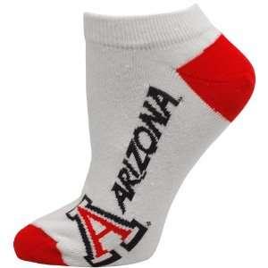 NCAA Arizona Wildcats Ladies White Logo & Name Ankle Socks