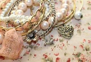 V4760 New Fashion Jewelry Peach flower Delphinium Bracelet 10 pieces