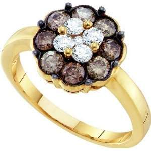 Delicate Flower Ring Beautifully Designed in 14K Yellow Gold, Adorned