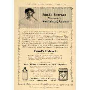 1912 Ad Ponds Extract Vanishing Cream Healing Remedy