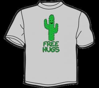FREE HUGS T Shirt MENS funny vtg 80s threadless cactus