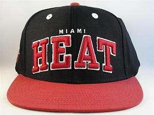 NBA MIAMI HEAT RETRO FLAT BILL SNAPBACK HAT CAP GREEN UNDERBRIM NEW