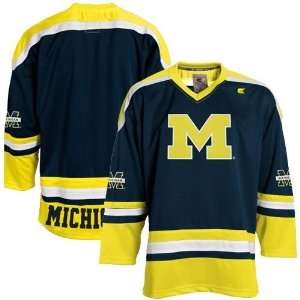 Michigan Wolverines Youth Navy Blue Hockey Jersey
