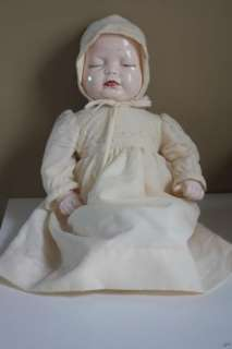 Antique Bisque Porcelain 3 Face Baby Doll Sleeping Sad Happy