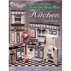 Fashion Doll Dream House Kitchen Plastic Canvas Leaflet