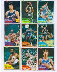 1981 82 1981 TOPPS COMPLETE YOUR SET COMMON FRESH MINT