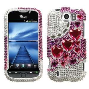 Diamond BLING Hard Case Phone Cover for T Mobile HTC myTouch 4G Slide