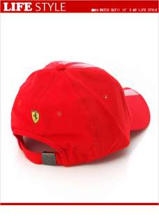 Brand New PUMA Ferrari LS Baseball Cap / Hat (55810802) Red in Asian