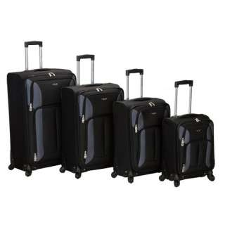 Rockland Impact 4 Piece Spinner Luggage Set Luggage