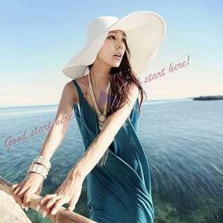 Fashion Hats Womens Wide Large Brim Summer Beach Sun Hat Straw Beach