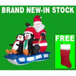 Outdoor Blow Up Christmas Decoration With Free Stocking Everything