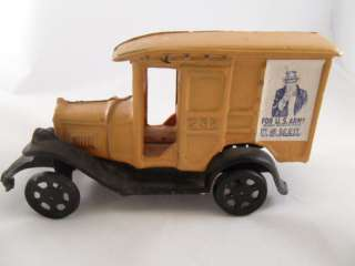 Vintage Cast Iron Toy Mail Truck 236