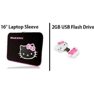 Drive + Deluxe Hello Kitty Black Neoprene Laptop Sleeve Electronics