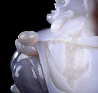 Agate Buddha Sculpture, Stone Carving #R28