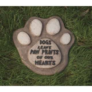 Dogs Leave Paw Prints On Our Hearts Garden Stone Decor Garden Center