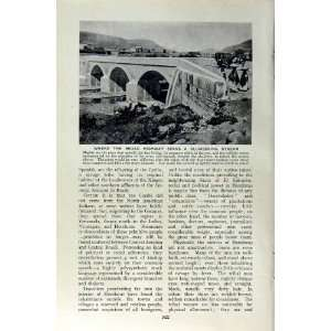 c1920 BRIDGE HONDURAS ROAD TRANSPORT PEOPLE HORSE CART Home & Kitchen