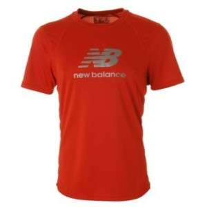 New Balance Mens Red Reflective Running T Shirt S M L