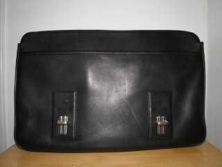 Coach Black Leather Thompson Computer Laptop Briefcase Business Bag