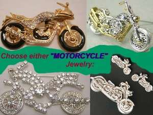 MOTORCYCLES Bikers Chopper Skull Cops Rock Bike Jewelry