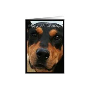 Happy 25th Birthday Doberman Pinscher Dog Card: Toys
