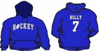 Hoodie Custom Name & # Ice Hockey Hooded Sweatshirt Team Hoodies