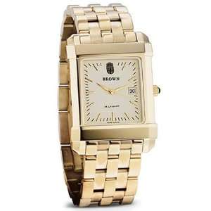 Brown University Mens Swiss Watch   Gold Quad Watch with Bracelet by