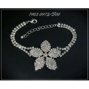 Exclusive Wedding Bracelet, Silver, High Quality Czech