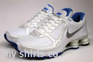 Nike Shox Turbo+10 White Medium Grey Blue Womens 8.5