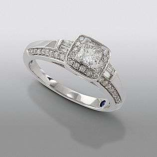 cttw Certified Diamond Engagement Ring 14k White Gold  David Tutera