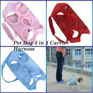 in 1 Multi function Pet Dog Coat Apparel Clothes Leash Harness